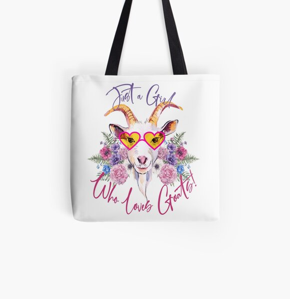 Just a Girl Who Loves Goats  All Over Print Tote Bag
