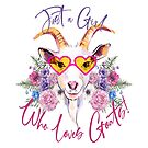 Just a Girl Who Loves Goats  by IconicTee