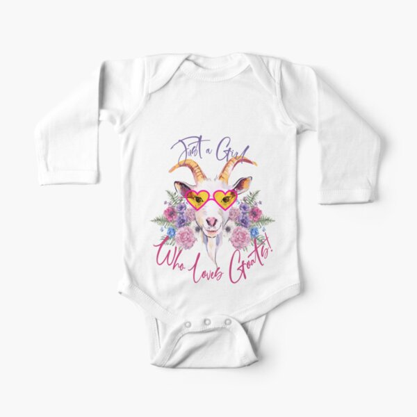 Just a Girl Who Loves Goats  Long Sleeve Baby One-Piece