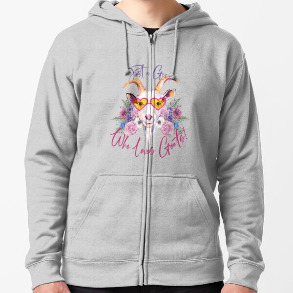 Just a Girl Who Loves Goats  Zipped Hoodie