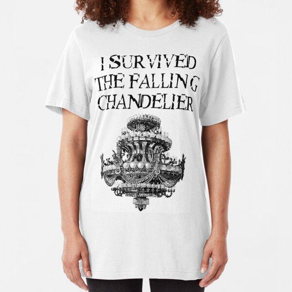 I Survived the Falling Chandelier Slim Fit T-Shirt