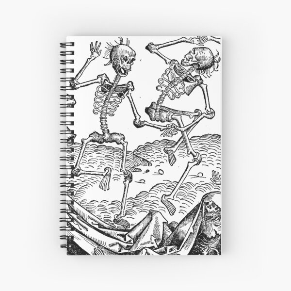 Medieval Dance of Death Spiral Notebook