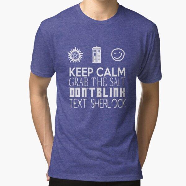 collectibleGEEK's SuperWhoLock Shirt Tri-blend T-Shirt