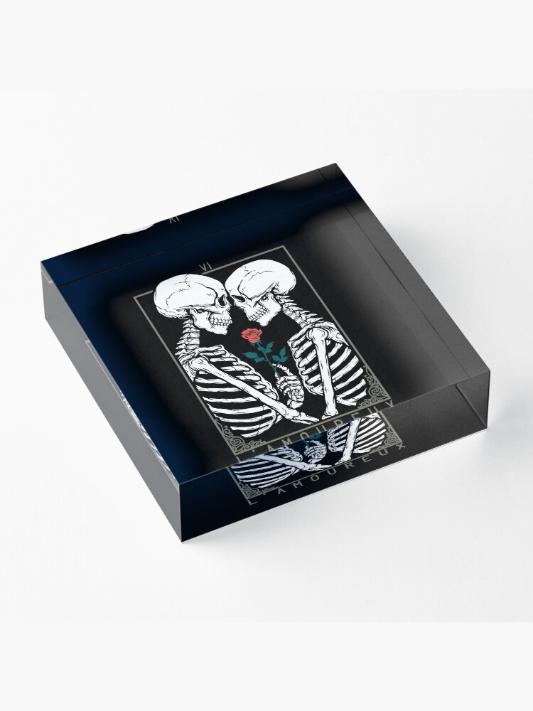 Alternate view of VI The Lovers Acrylic Block