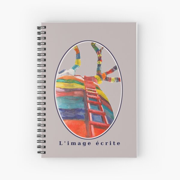 Limageecrite Baobab multicolored tree Spiral Notebook