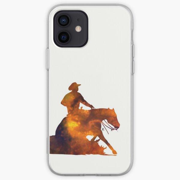 Western Reining Horse iPhone Soft Case