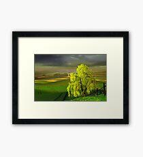 Green Beginning Framed Print