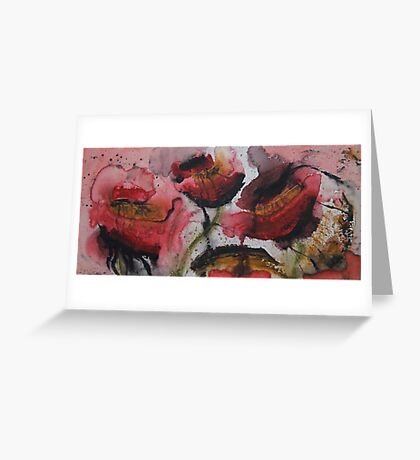 Bleeding Poppies Greeting Card
