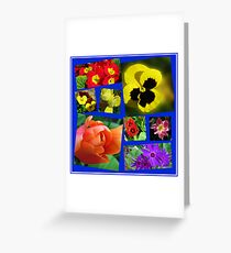 A Collage of Easter Flowers Greeting Card