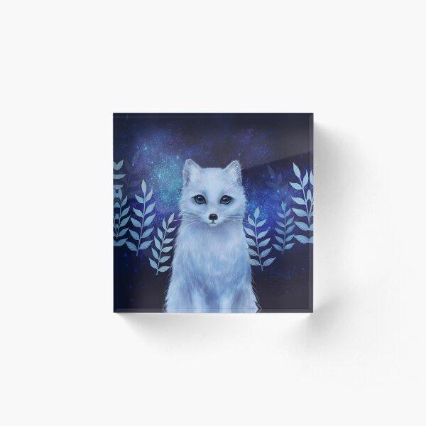 Winter fox Acrylic Block