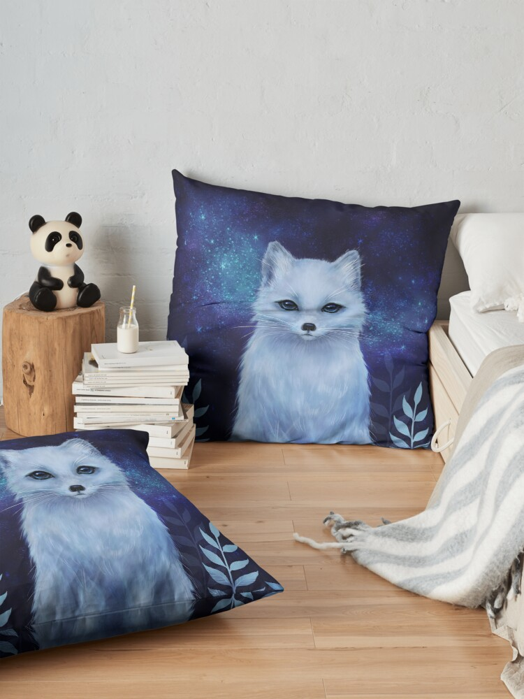 Alternate view of Winter fox Floor Pillow