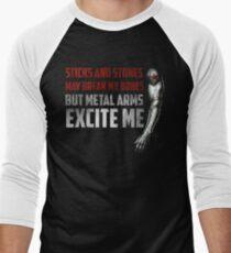 Sticks and Stones Men's Baseball ¾ T-Shirt