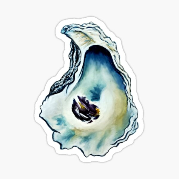 Watercolor Oyster Southern Art Sticker