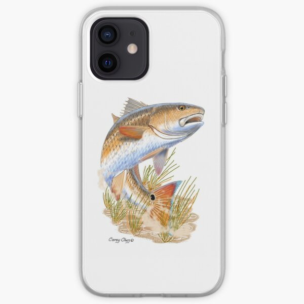Redfish in grass iPhone Soft Case