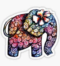 Tattoo Elephant TShirt Sticker