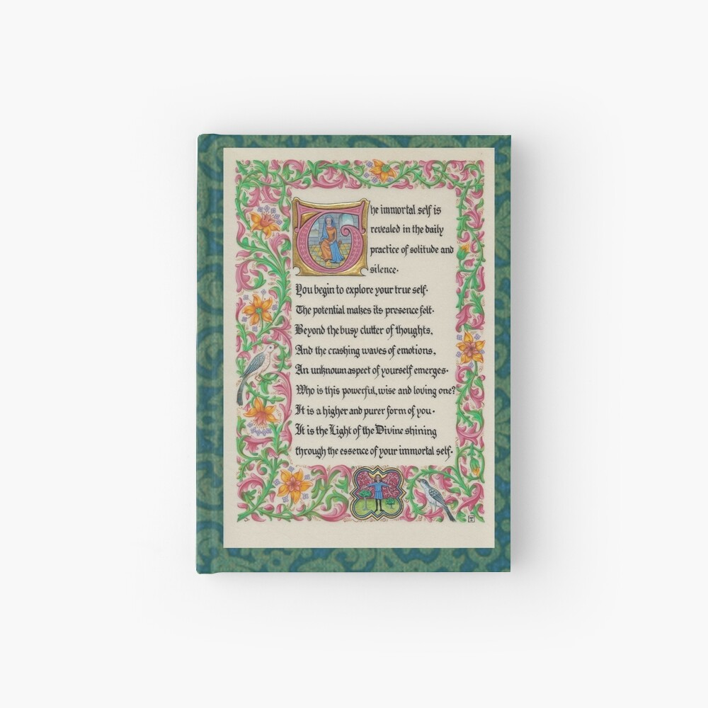 Medieval Illumination - The Immortal Self Hardcover Journal