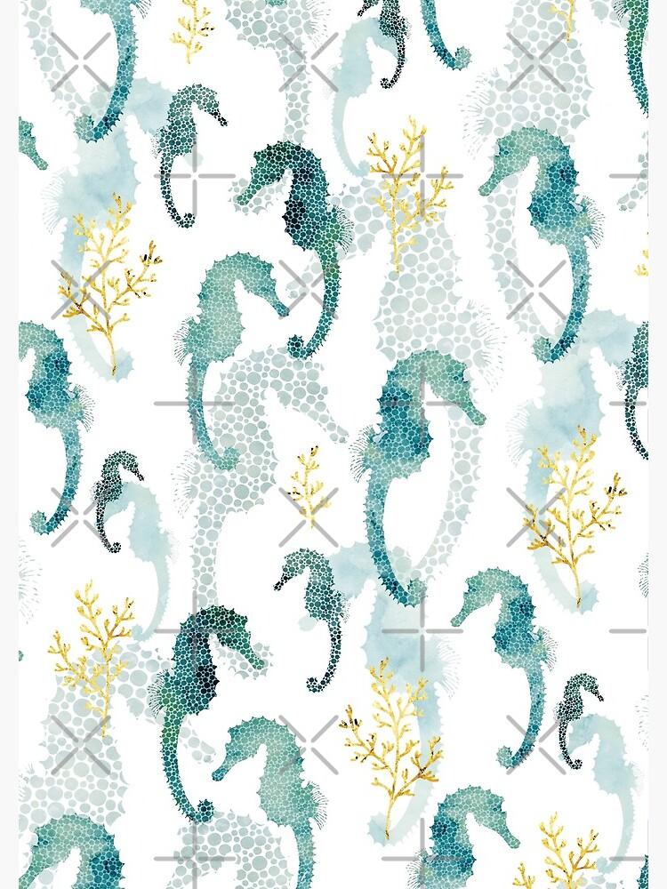 Pointillism Seahorse by adenaJ