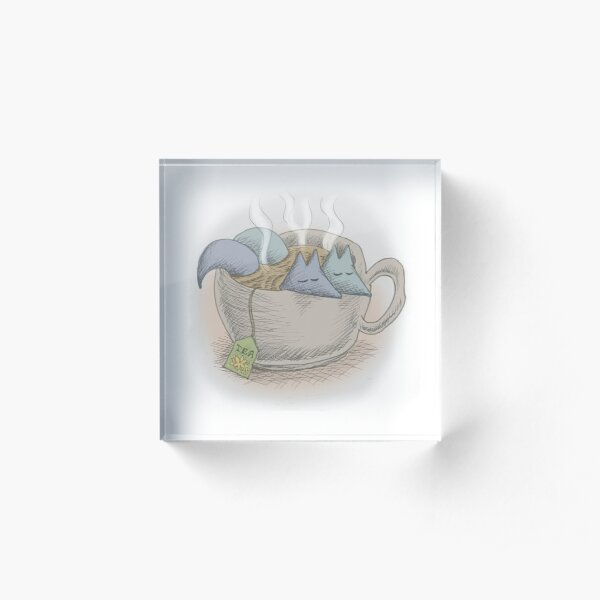 Teacup Bath Acrylic Block