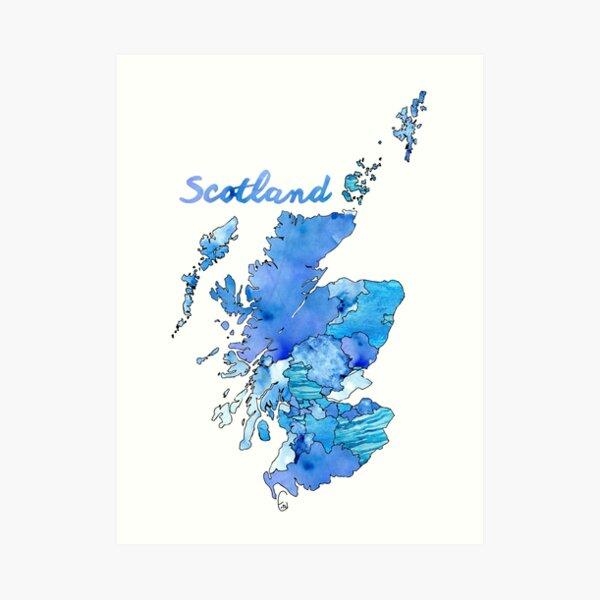 Watercolor Countries - Scotland Art Print