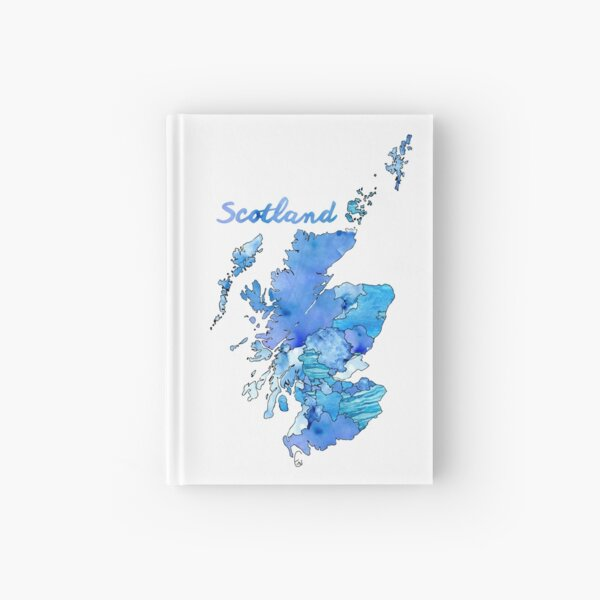 Watercolor Countries - Scotland Hardcover Journal