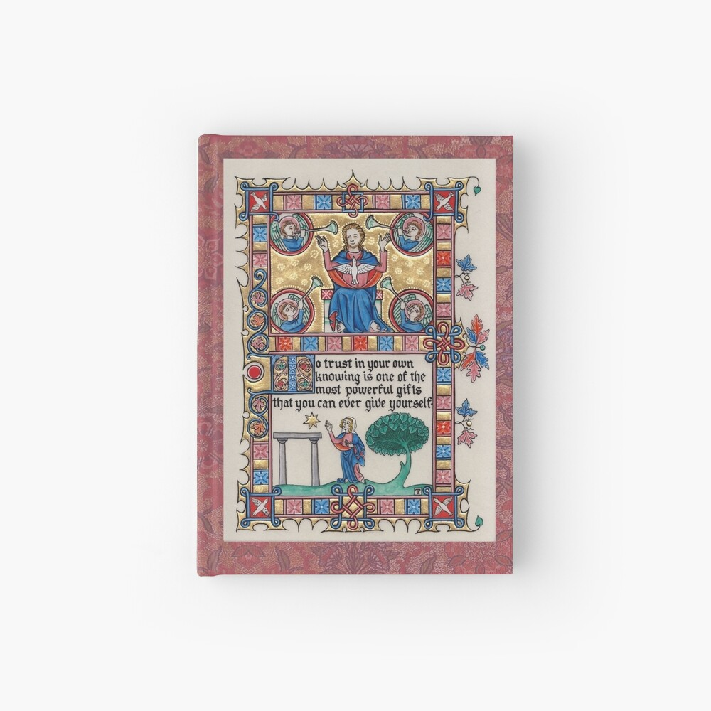 Medieval Illumination - Trust in your knowing Hardcover Journal