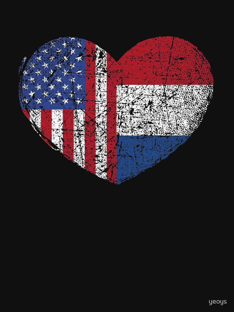 USA Netherlands Heart - Dual Citizenship von yeoys