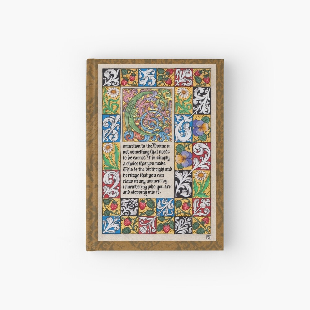 Medieval Illumination - Connection to the Divine Hardcover Journal