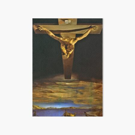 Jesus by Dali Art Board Print