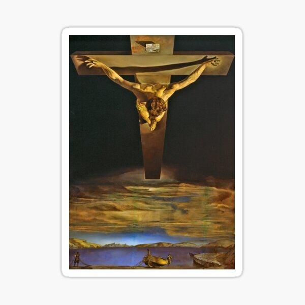 Jesus by Dali Sticker
