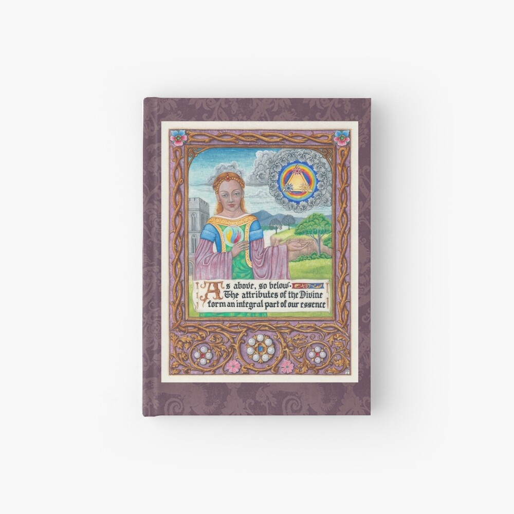 Medieval Illumination - As Above so Below  Hardcover Journal