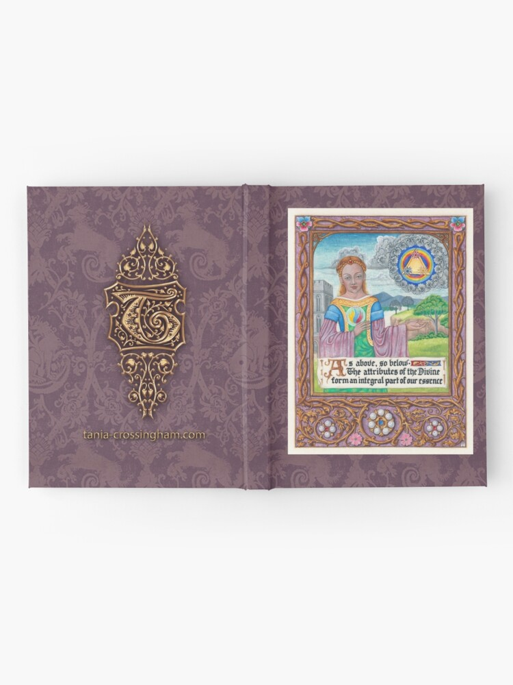 Alternate view of Medieval Illumination - As Above so Below  Hardcover Journal