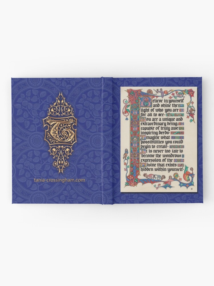 Alternate view of Medieval Illumination - Believe in yourself  Hardcover Journal
