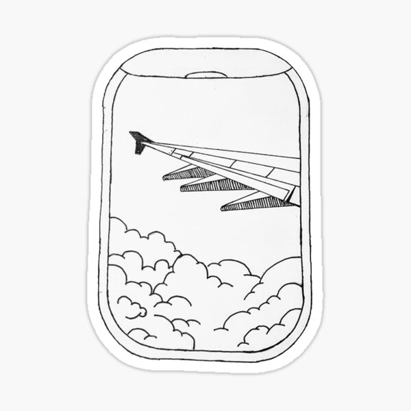 airplane window Sticker