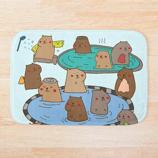 Having a capybara ol' time  Bath Mat