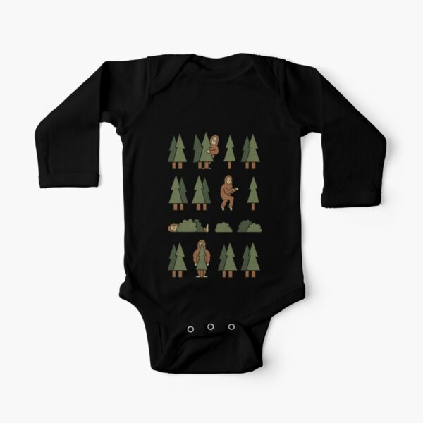 Bigfoot Forest Long Sleeve Baby One-Piece
