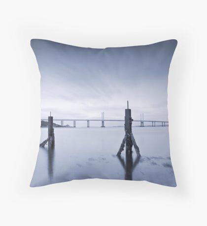 Cool Blue: Kessock Bridge, Inverness Throw Pillow