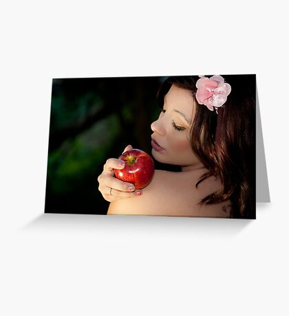 Temptation is a weakness Greeting Card