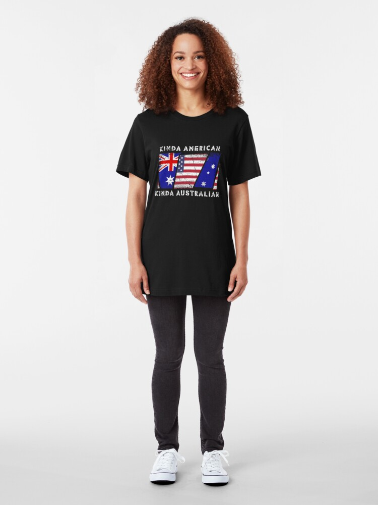 Alternative Ansicht von Kinda American Kinda Australian - Dual Citizenship Slim Fit T-Shirt