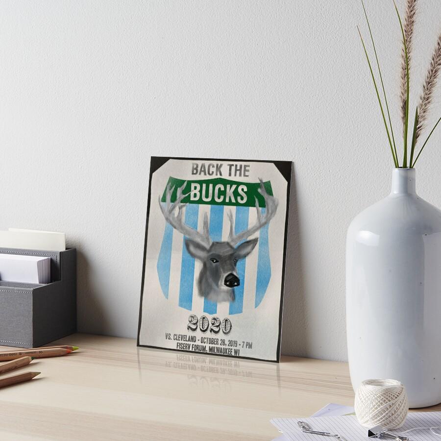 Back the Bucks 2020 Art Board Print