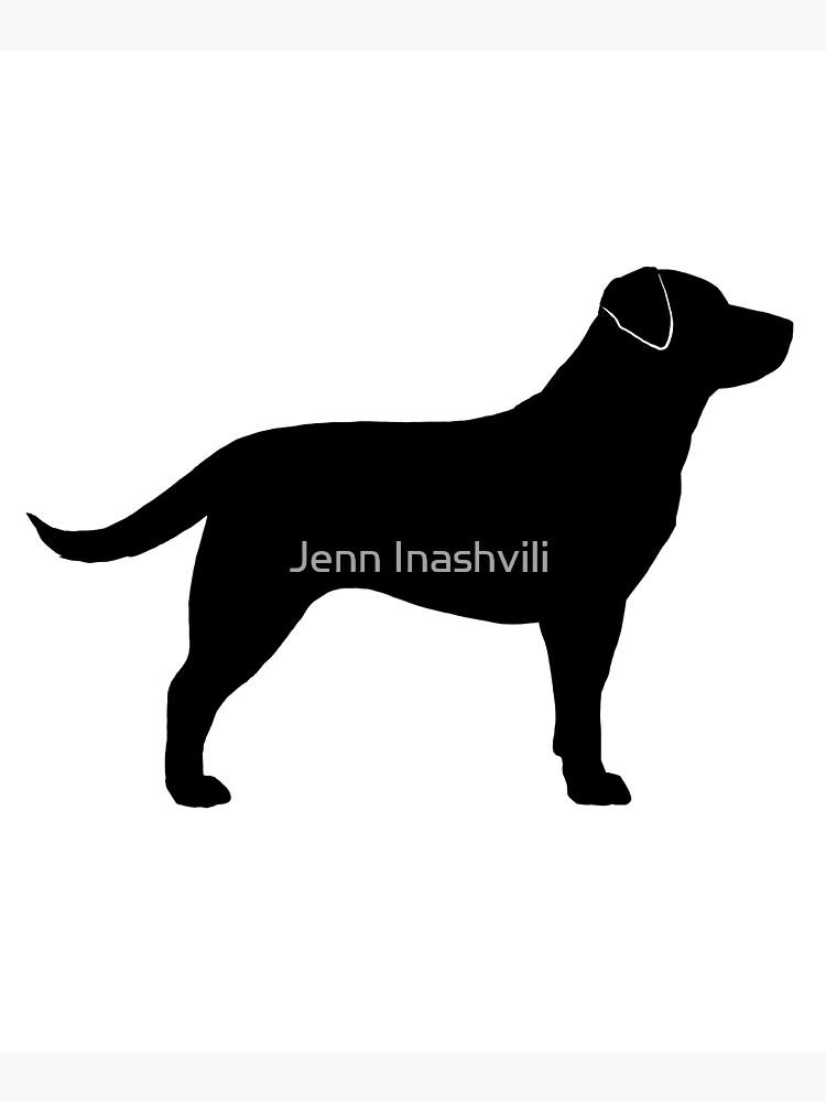 Black Labrador Retriever Silhouette(s) by ShortCoffee