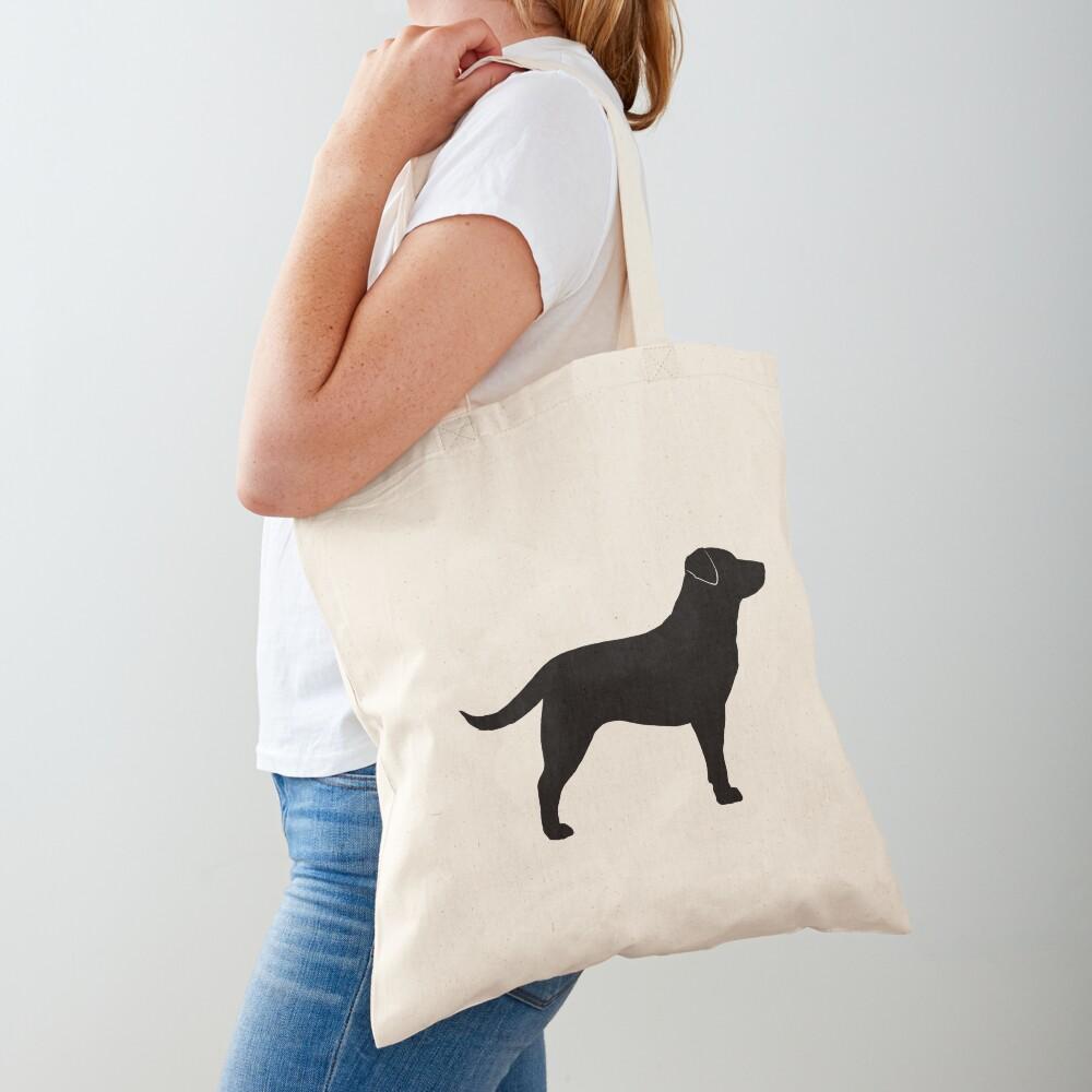 Black Labrador Retriever Silhouette(s) Tote Bag