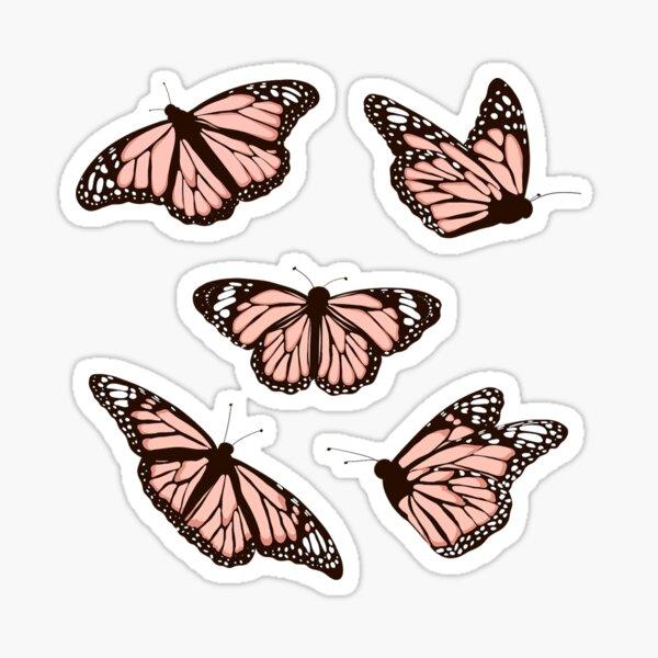Pink Butterflies Sticker