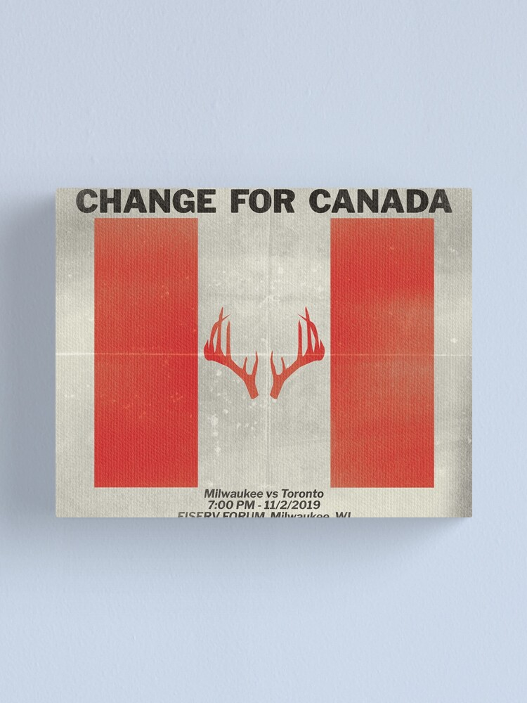 Alternate view of Change for Canada Canvas Print
