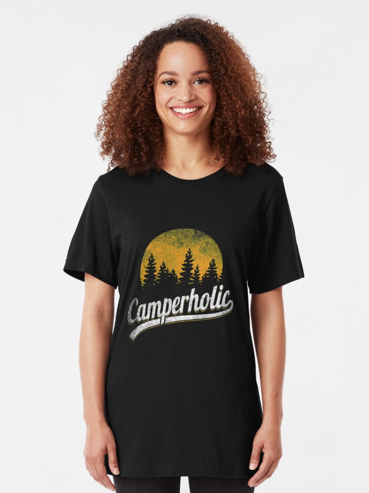 Alternative Ansicht von Funny Camping Pun - Camperholic Slim Fit T-Shirt