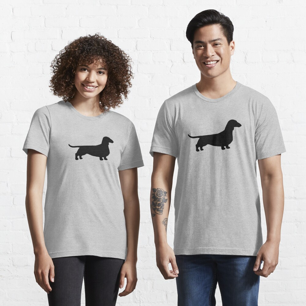 Dachshund Dog Silhouette(s) Essential T-Shirt