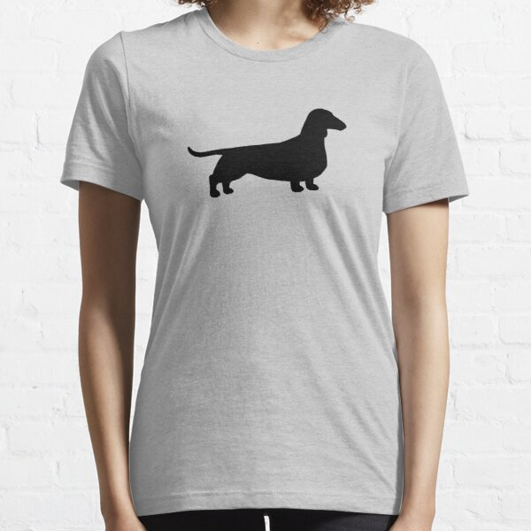 Dachshund Dog Silhouette(s) | Smooth Coated Wiener Dog Essential T-Shirt