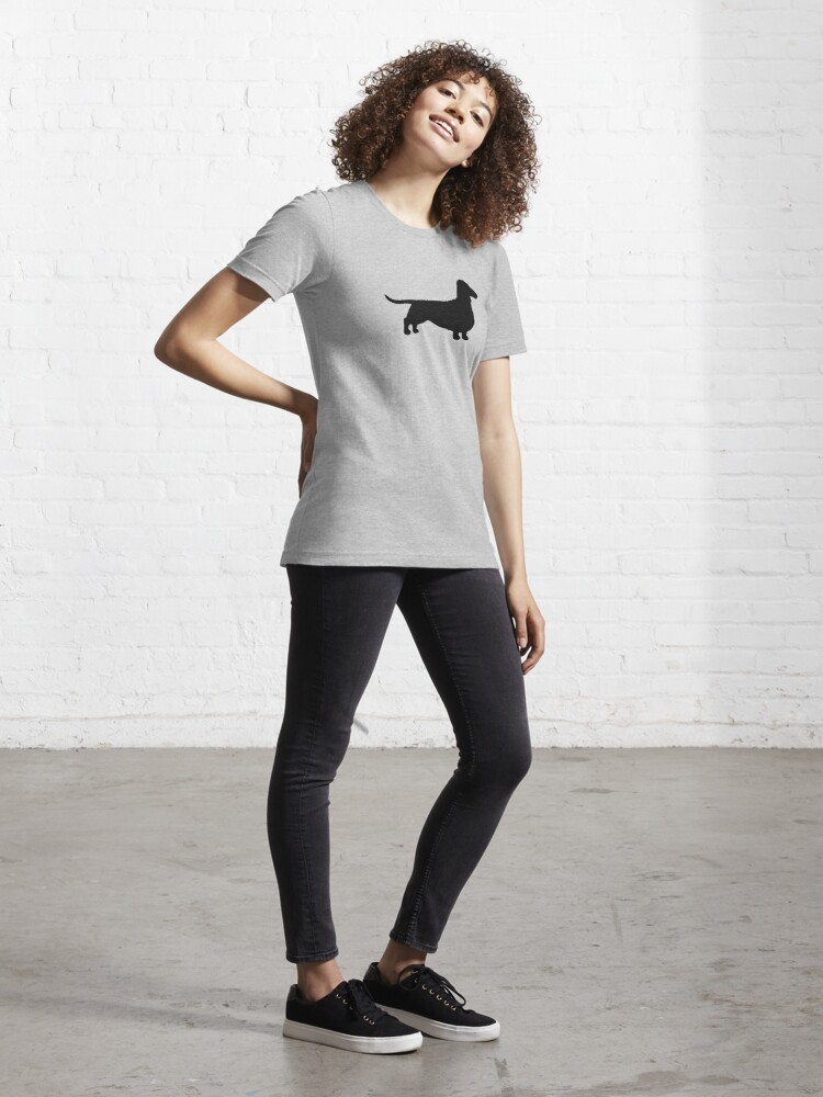 Alternate view of Dachshund Dog Silhouette(s) Essential T-Shirt