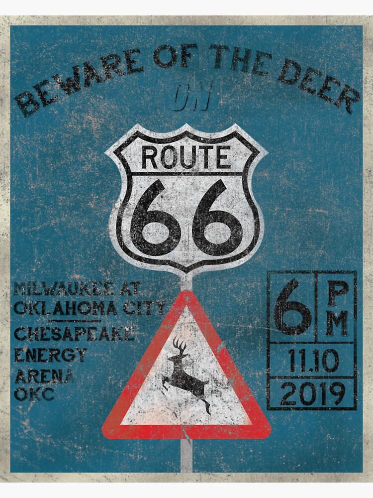 Beware of the Deer on Route 66 by AJW3-Art
