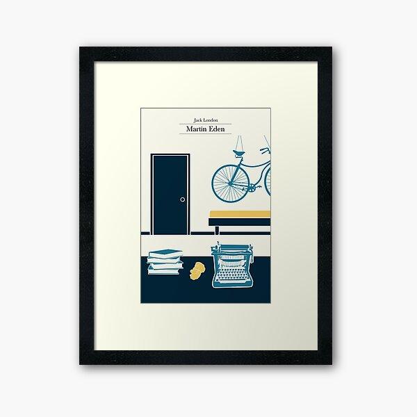 Martin Eden's room - 3 colors Framed Art Print