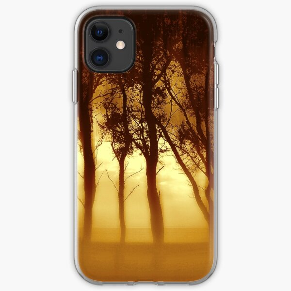 Morning Tree Silhouette(Sepia) iPhone Soft Case